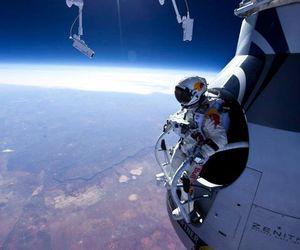 space, felix baumgartner, and jump image