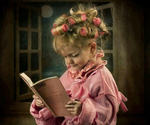 book, baby, and hair image