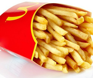 fries, yummy, and McDonald's image