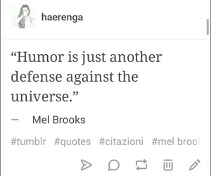 defense, humour, and mel brooks image