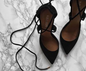 black, lace up, and fancy image