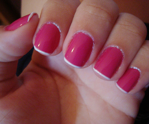 pink, unhas, and francesinha image