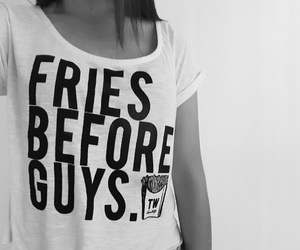 b&w, black and white, and fries image
