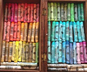 colorful, colors, and crayons image