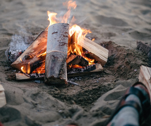 beach, camping, and sea image