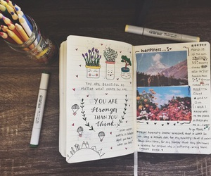art, diary, and ideas image