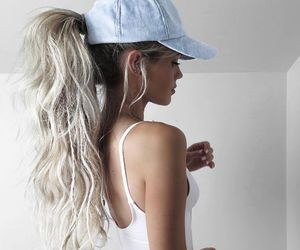 beauty, blonde, and cap image