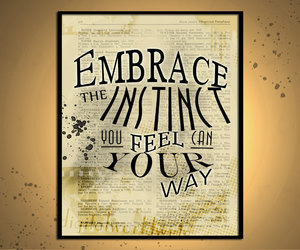 digital print, inspirational quote, and home print image
