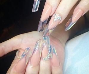 nails, beauty, and crystal image