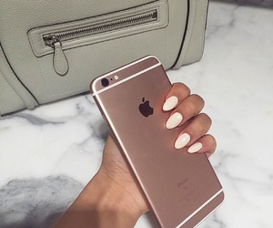 iphone, nails, and girl image