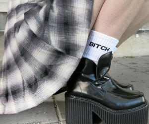 bitch, grunge, and shoes image