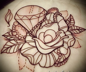 tattoo, diamond, and art image