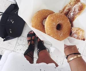food, donuts, and style image