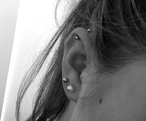 helix, pierced, and piercing image