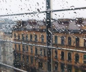 rain, apartment, and window image