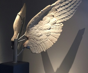 wings, art, and statues image