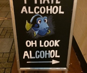 alcohol, funny, and dory image