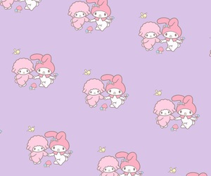 background, iphone, and my melody image