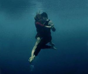 dance, water, and couple image