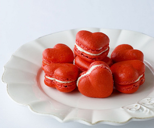 heart, red, and food image
