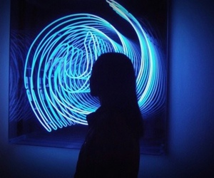 aesthetic, neon blue, and blue theme image