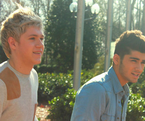 niall horan, zayn malik, and one direction image