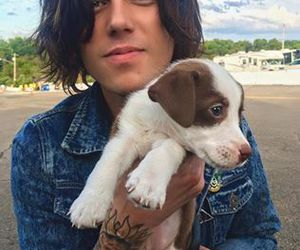 kellin quinn, puppy, and sleeping with sirens image