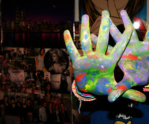 hands, colors, and cool image