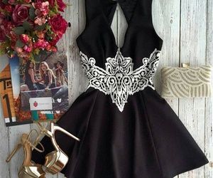 black, dress, and nice image