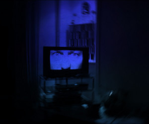 blue, dark, and tv image