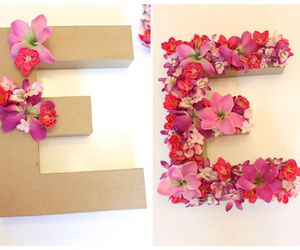 flowers, diy, and Letter image