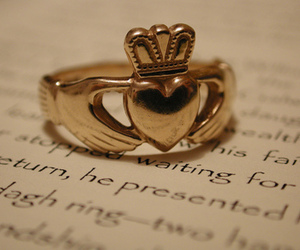 ring, crown, and heart image