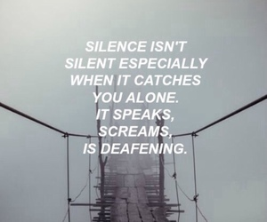silence, quote, and alone image