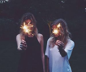 girl, friends, and light image