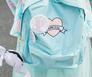 backpack, girl, and tokyo image