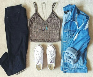 outfit, clothes, and moda image