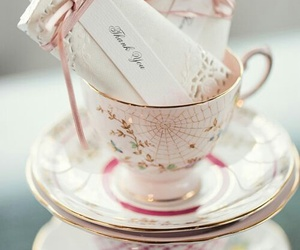 cup, vintage, and pink image
