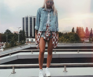 fashion, denim, and girls image