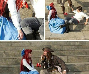 disney, ariel, and jack sparrow image