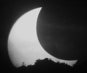 black and white, dark, and moon image