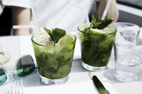 drink, mojito, and food image