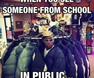 funny, school, and public image