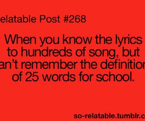Lyrics, quotes, and school image
