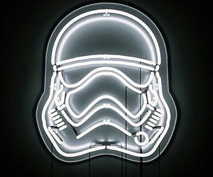 star wars, neon, and white image