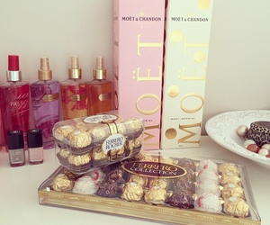 moet, ferrero, and Victoria's Secret image