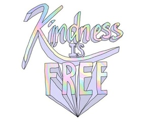 kindness, free, and pastel image
