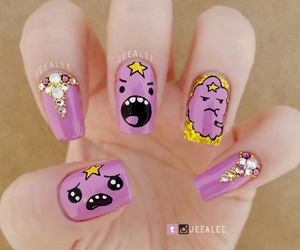 nails, adventure time, and lumpy space princess image