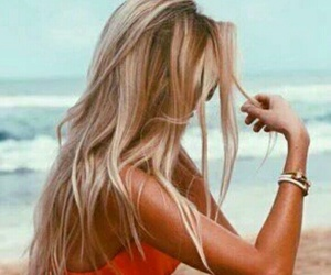 beach, hair, and photography image