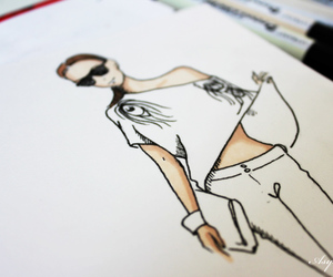 art, cool, and drawing image
