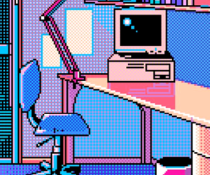 aesthetic, pastel, and pixel art image